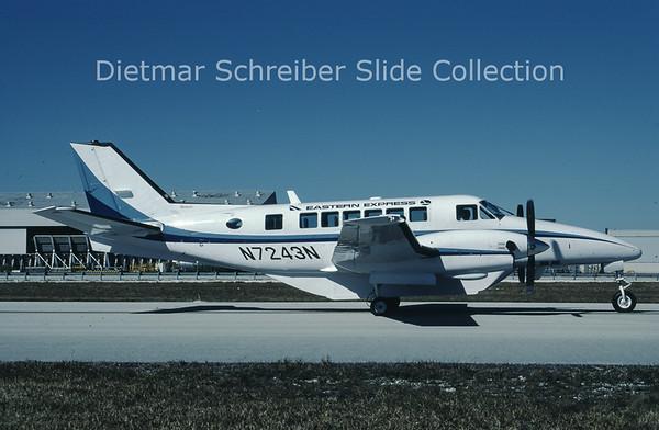 1987-02 N7243N Beech C99 (c/n U-234) Bar Harbor Airlines