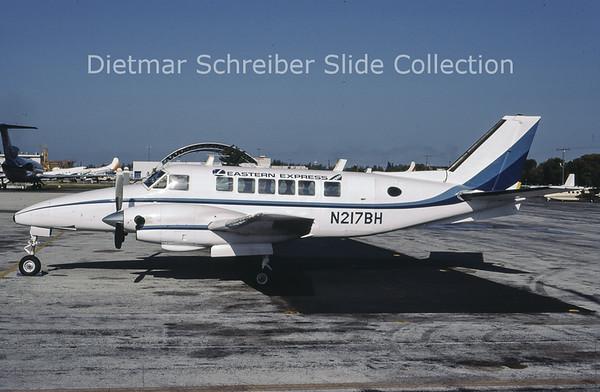 1986-09 N217BH Beech 99 (c/n U-99 ) Bar Harbor Airlines