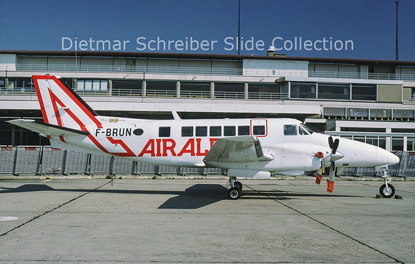 1977-06 F-BRUN Beech 99 (c/n U-11 ) Air Alpes