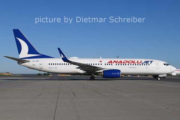 2021-05-09 TC-JZS Boeing 737-800 Anadolujet