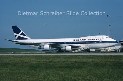 1987-10 G-HIHO Boeing 747-123 (c/n 20108) Highland Express