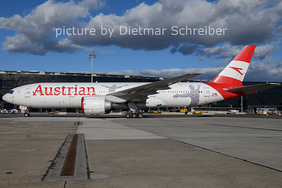 2021-02-04 OE-LPF Boeing 777-200 AUstrian AIrlines