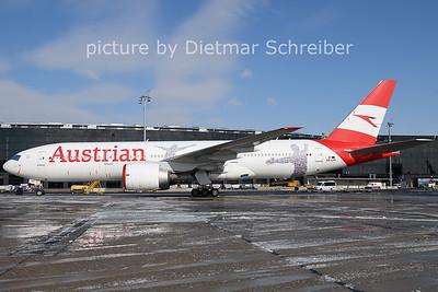 2021-02-11 OE-LPF Boeing 777-200 Austrian Airlines
