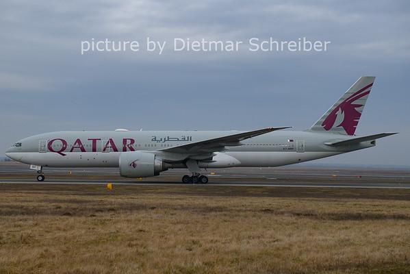 2021-02-19 A7-BBF Boeing 777-200 Qatar Airways