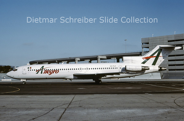 2001-10 XA-TLZ Boeing 727-2B7 (c/n 22163) Allegro Air