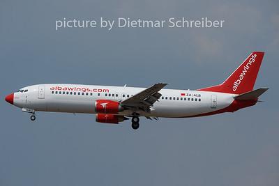2020-08-09 ZA-ALB Boeing 737-400 Alba Wings