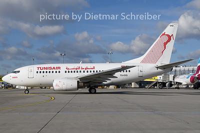 2019-01-29 TS-IOQ Boeing 737-600 Tunis Air