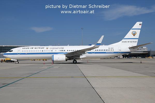 2021-09-06 9K-GCC Boeing 737-900 Kuwait Government