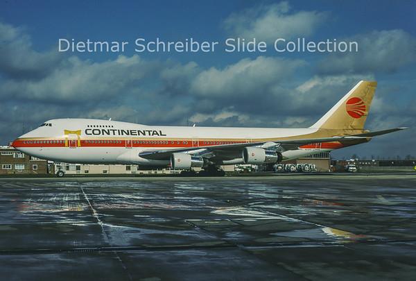 1991-03 N608PE Boeing 747-238B (c/n 20012) Continental Airlines