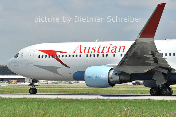 2011-08-05 OE-LAZ Boeing 767-300 Austrian AIrlines