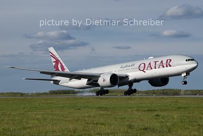 2021-05-06 A7-BAV Boeing 777-300 Qatar Airways