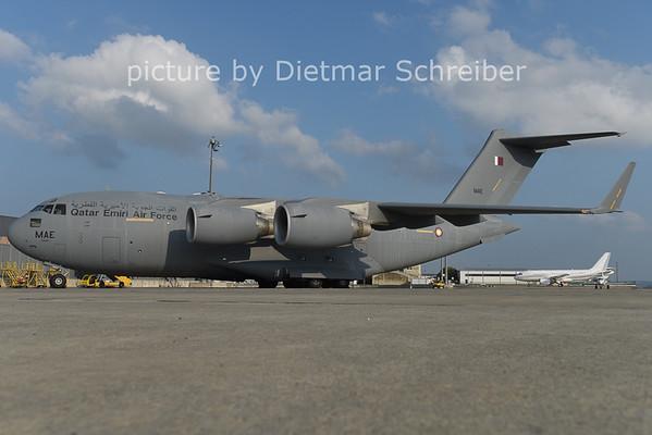 2014-10-05 A7-MAE Boeing C17 Qatar Air Force