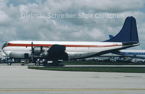 1986-09 HI-481 Boeing C97G (c/n 16687) Belize Air International