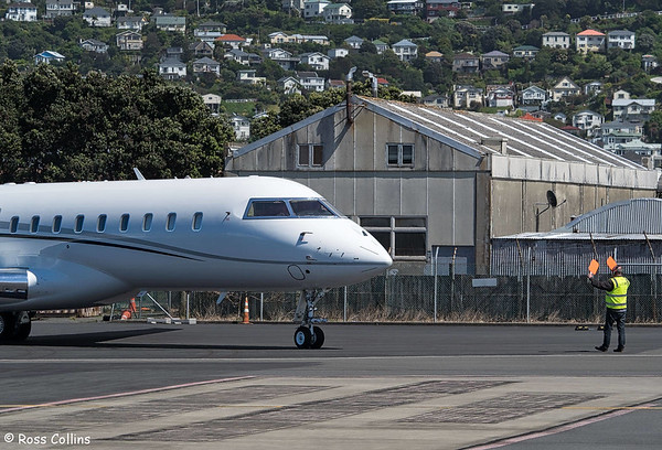 Bombardier Global Express C-GNRS at Wellington, 24 October 2017