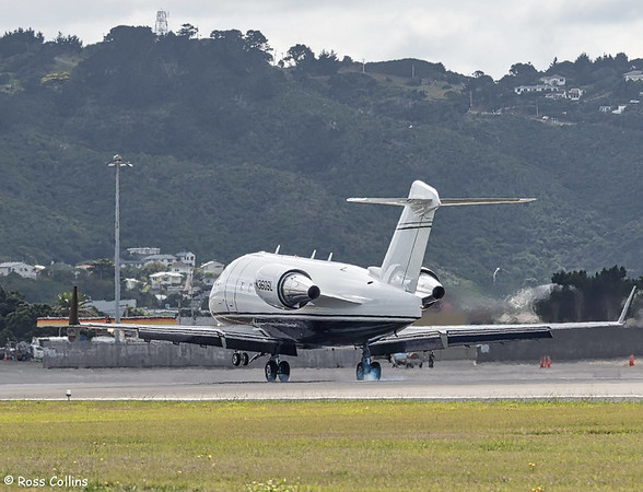 Bombardier Challenger 604, N360SL at Wellington, 23 February 2018