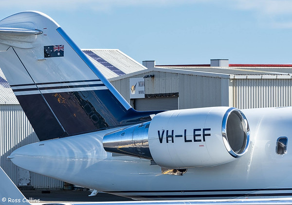 Bombardier Challenger 850 VH-NEF at Wellington 2018