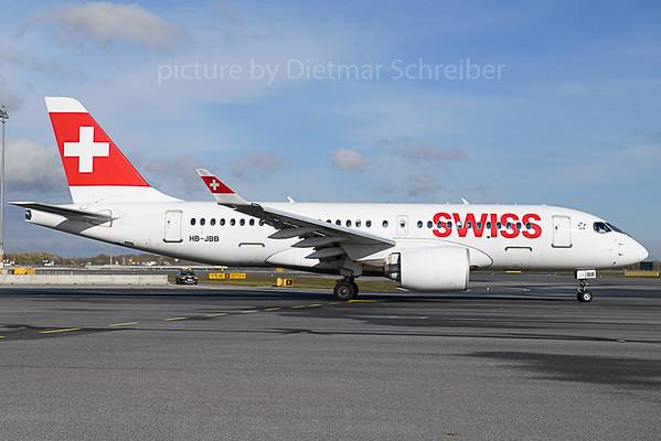 2019-11-14 HB-JBB Airbus A220-100 Swiss