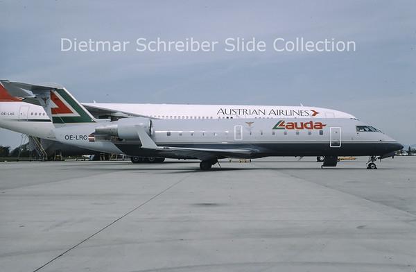 OE-LRC Bombardier Regionaljet 100LR (c/n 7036) Lauda Air Italy