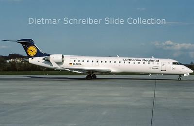 2009-04 D-ACPA Bombardier Regionaljet 701 (c/n 10012) Lufthansa Cityline
