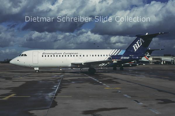 1990 G-BBMF BAC 1-11-401AK (c/n 066) Birmingham European Airways