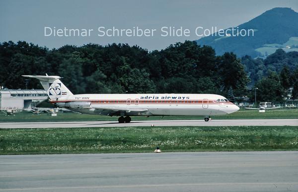 YU-ANN BAC 1-11-492GM (c/n 260) Adria Airways