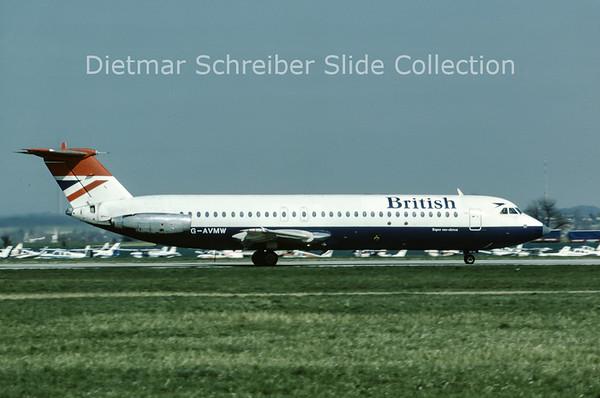 1982-04 G-AVMW BAC 1-11-510ED (c/n 149) British Airways