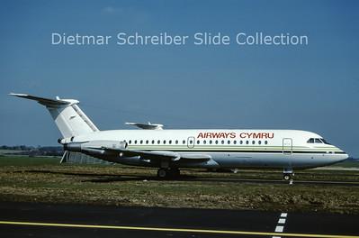 1988-04 G-WLAD BAC 1-11-487GKF  (c/n 267) Airways International Cymru