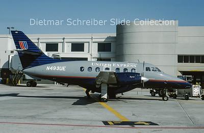 1993-04 N493UE Bae Jetstream 32 (c/n 805) United Express