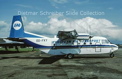 1987-05 OO-FKY CASA 212-200 (c/n 291) European Air Transport