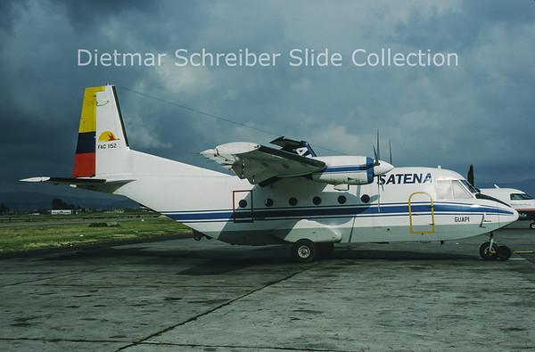 1993-01 FAC-1152 CASA 212-200 (c/n 306) Satena Colombia