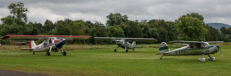 2016-08-21 D-EIBE Dornier 27 / D-EHSC Cessna 140