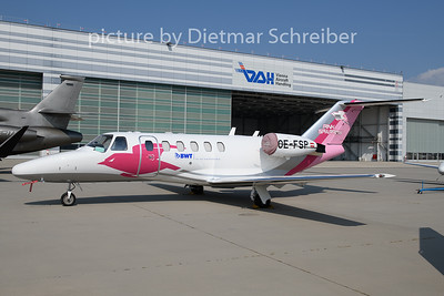 2019-08-27 OE-FSP Cessna 525 Pink Sparrow
