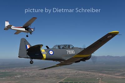 2015-02-07 N76BZ T6 Texan / N1805 Cessna 185