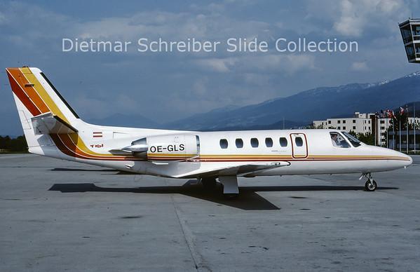 1985-06 OE-GLS Cessna 550 Citation 2 (c/n 550-0270) Tyrolean Airways