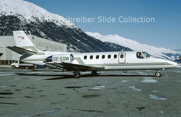 OE-GSW Cessna 560 Citation 5 (c/n 560-0088) Tyrolean Jet Service