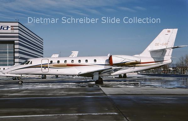 2009-03 OE-GAK Cessna 680 Sovereign (c/n 680-0186) Jet Alliance