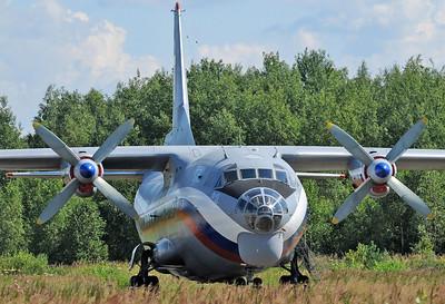 Chkalovsky Air Base (CKL/UUMU) outside Moscow on July 25, 2008. Russian Air Force Antonov An-12BK RA-12137 (cn 00377605). This beauty is operated by 223rd Flight Unit (callsign Chkalovsk-Avia).