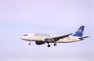 Spanish Iberworld Airbus A320 214 EC-INZ on short finals to land.