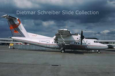 1988-06 G-BOAX DHC Dash 7-100 (c/n 111) London City Airways