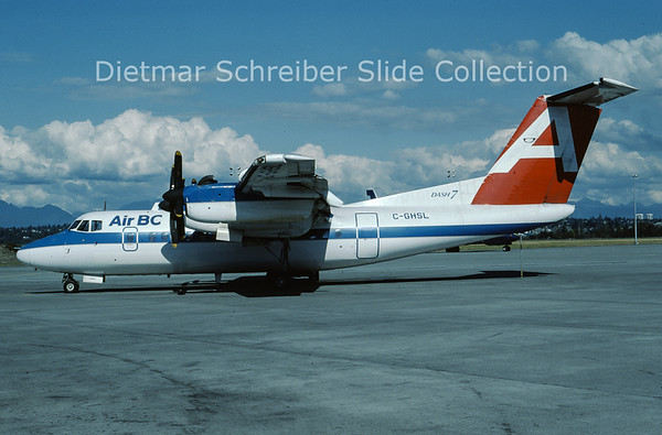 1985-09 C-GHSL DHC Dash 7-100 (c/n 80) Air BC