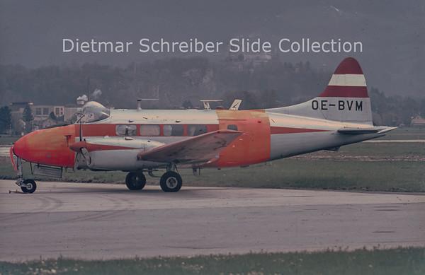 1970 OE-BVM DeHavilland DH104 Dove 5 (c/n 04488) Austira - Bundesamt für Eich- & Vermessungwesen
