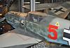 """Deutsches Technikmuseum Berlin on September 12, 2012. Luftwaffe Messerschmitt Bf 109E-4 """"Red 5"""" (Werknummer 1407)."""