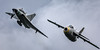 Formation Saab J 29F Tunnan (Barrel) and Saab SK 35C Draken (Dragon/Kite)