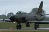 """Saab J 32B (fighter version) in rain.<br /> <a href=""""http://www.e-pic.se/Aircraft/Aircraft-sorted-by-type/SAAB/SAAB-32-Lansen/"""">http://www.e-pic.se/Aircraft/Aircraft-sorted-by-type/SAAB/SAAB-32-Lansen/</a><br /> History: The Saab Company was approached in 1948 to develop a turbojet-powered strike aircraft to replace a series of 1940s vintage attack, reconnaissance and night-fighter aircraft in the Flygvapnet: the Saab B 18/S 18, J 21R/A 21R and J 30 (de Havilland Mosquito). The design was initially designated the P1150.<br /> <br /> Swedish Air Force requirements for the P1150 were demanding: the aircraft had to be able to attack anywhere along Sweden's 2 000 km (1 245 miles) of coastline within one hour of launch from a central location. It had to be capable of being launched in any weather, day or night. Special attention was to be paid to integrating the electronics and weapons systems to create the equivalent of today's weapons systems approach to combat aircraft design. The aircraft was to be armed with four 20 mm cannon, rockets, bombs and/or a new anti-ship missile being developed, the Rb 04.<br /> <br /> The design team created a sleek airframe with clean lines, powered by a license-built Rolls-Royce Avon Series 100 turbojet. Uniquely, the design of the swept wings was the result of an early application of computer technology. To test the 35° sweepback design, a half-scale wing was mounted on a Saab Safir, the Saab 202 Safir. The design initially featured both Fowler flaps and a leading edge slot. The slot was discarded as unnecessary after trials with the prototypes and never appeared on a production aircraft. A small batch of P1150 prototypes completed design and evaluation trials with series production of the newly renamed Saab J 32 Lansen (J for """"Jakt"""" [Fighter]) beginning in 1953. There were no trainer versions, but some Lansens had rudimentary controls installed in the cockpit rear section.<br /> <br /> #Saab #Lansen #Aircraft #Aviation #E_PIC_SE"""