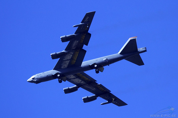 Boeing B-52H, note the ice under the wings