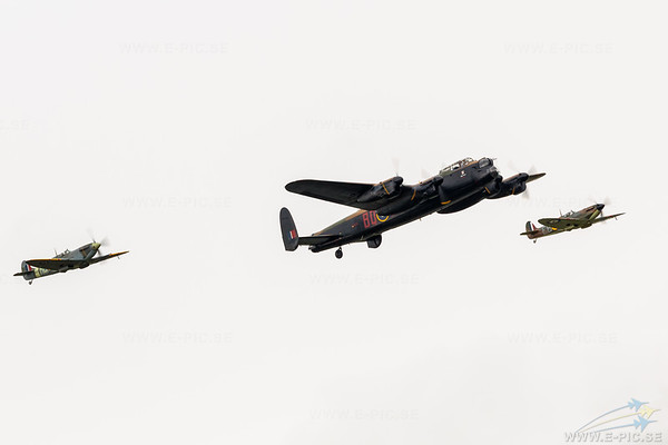 Avro Lancaster, Supermarine Spitfire MkVb & MKIIA, Battle of Brittain Memorial Flight
