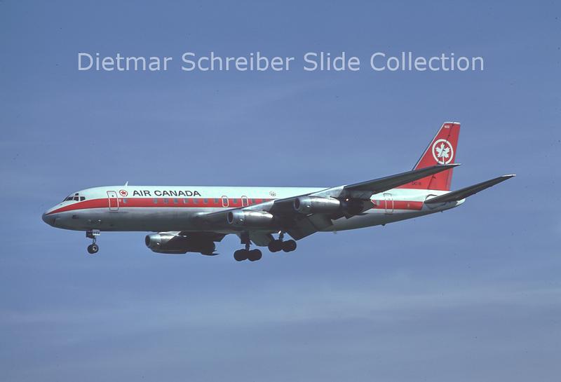 1976-10 CF-TJB Douglas DC8-43 (c/n 45443) Air Canada