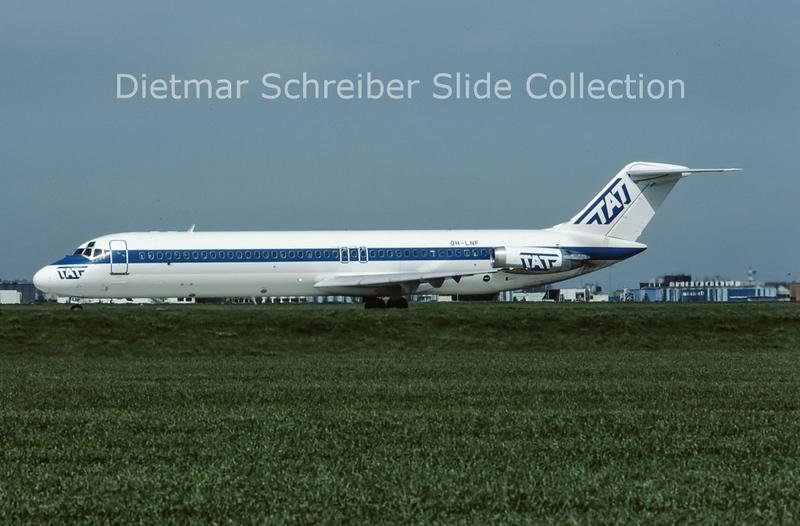 1983-04 OH-LNF Douglas DC9-41 (c/n 47614) TAT European Airlines