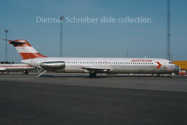 1976-05 OE-LDL Douglas DC9-50 Austrian Airlines