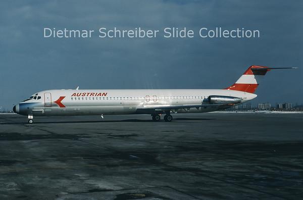 1978-02 OE-LDO Douglas DC9-51 (c/n 47756) Austrian Airlines